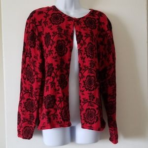 100%cotton floral sweater